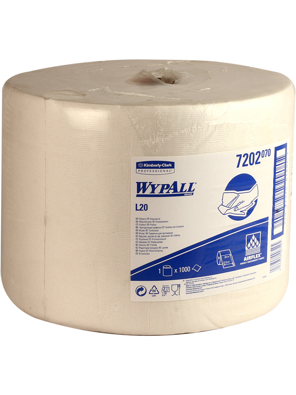 Wypall L20 White Roll- 1386 (72020)
